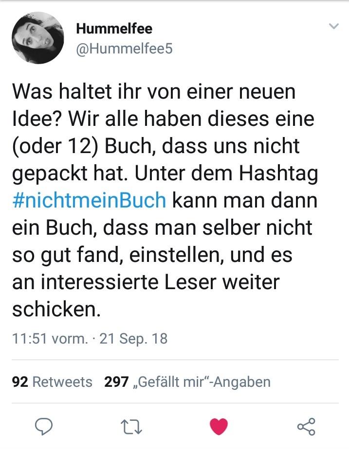 Twitteraktion zum Thema Buch bei www.nixzulesen.de